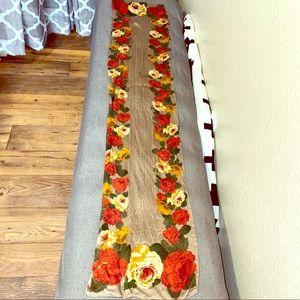 "100% Silk Vintage Liz Claiborne Rose Scarf 12""x52"""
